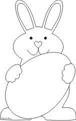 Sagoma coniglio ecole bon app tit mr lapin pinterest - Modelli di coniglietto pasquale gratis ...