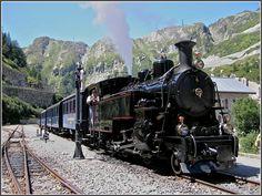 DFB steam train at Gletsch, 1st August 2007
