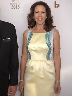 "Royaltyspeaking on Twitter: ""Crown Princess Mary attended the Reumert Awards tonight in Copenhagen"