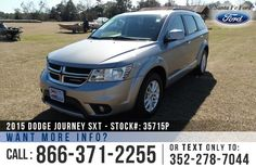 2015 Dodge Journey SXT - Sport Utility Vehicle - V6 3.6L Engine - Alloy Wheels - Spoiler - Tinted Windows - Fog Lights - Roof Racks - Safety Airbags - Powered Windows/Locks/Mirrors/Driver Seat - Seats 5 - AM/FM/SIRIUS Satellite - iPod/Aux/USB Ports - Push Button Start - Cruise Control - Remote Keyless Entry - Touch Screen - Outside Temperature Display - Ambient Lighting and more!