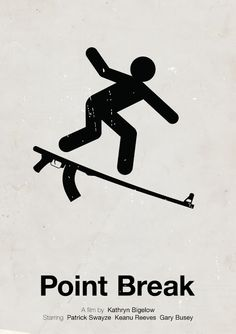 Viktor Hertz is a Swedish designer who made these pictogram movie posters. He's taken an idea from the film and made minimalistic pictogram movie posters out Minimal Movie Posters, Minimal Poster, Film Posters, Point Break Tattoo, Point Break 1991, Broken Film, Westerns, Poster Art, Poster Ideas