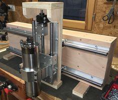 Fabrication d'une CNC Routeur Cnc, Arduino Cnc, Diy Cnc Router, Cnc Woodworking, Router Bits, Vis A Bille, Homemade Cnc, Cnc Wood Carving, Cnc Plans