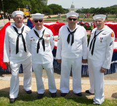 Navy veterans before the Memorial Day Parade 2014 in Washington, D.C. - U.S. - Stripes