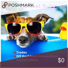 Closet Rules No trades off posh transactions or lowball offers Accessories