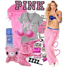 """""""PINK"""" by never-alone on Polyvore"""