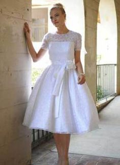 Ball Gown Strapless Sleeves Wedding Dress  2  Items Code:   W21538891  Silhouette:   Ball-Gown  Neckline:   Strapless  Length:   Knee-Length  Fabric:   Satin,lace,beading  Colors:   Same as pictures OR Custom any color.  Size:   Standard Size US 2-18.   Custom order Or Plus Size Order (US 20-28) need charge more USD:20.  2  The price is just for the dress. Any other accessories in the picture, just like veil, jacket, etc. Is not included, and if you need one, please feel free to…
