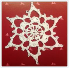 Leise rieselt der Schnee - another crochet snowflake, Diagramm and link to a great picture tutorial with the pattern attached