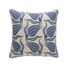 Blue Chelsea Blockprint Pillow   MADELINE WEINRIB