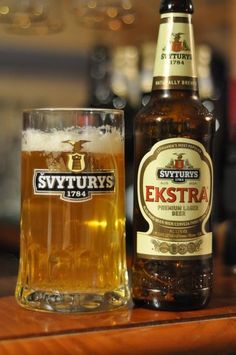 Švyturys: Lithuania's national beer. Love this stuff. Love Lithuania, and those people. Zeppelinas and basketball!