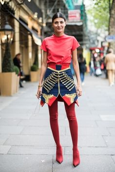 Street Style Trend Watch: Giovanna Battaglia is joining the Military Milan Street Style, Street Style Fashion Week, Fashion Mode, Spring Street Style, Street Chic, Look Fashion, Girl Fashion, Fashion Outfits, Womens Fashion