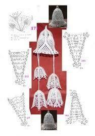 Výsledok vyhľadávania obrázkov pre dopyt szydełkowe dzwoneczki schematy Crochet Stars, Crochet Snowflakes, Thread Crochet, Diy Crochet, Crochet Crafts, Crochet Projects, Crochet Christmas Ornaments, Holiday Crochet, Christmas Bells