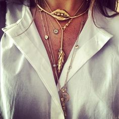 gold lips, eyes, tail #necklace #jewellery