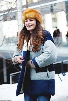 New_York_Fashion_Week-Street_Style-Fall_Winter-2015-Fur_Hat- by collagevintageblog, via Flickr
