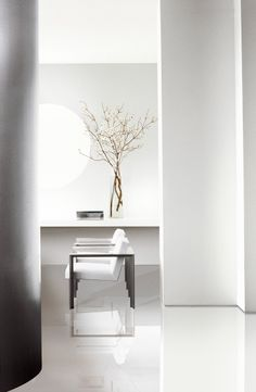 Sharp lines, minimalist design and the perfect clean walls in Ralph Lauren Paint's Box Pleat White.