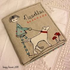 Loopy Linnet ~ everyone should have a handmade needle case/booklet. It is so clearly personal and a great keepsake. A few threaded needles for a college student is a good thing!