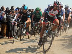 Bernhard Eisel took 12th briefly after making the front group. Paris Roubaix 2013