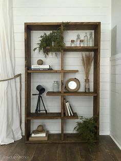 This shelf is perfect for any space, literally! Whether you need to fill a wide space or a tall space, this unit has you covered. It is designed so that is can be rotated horizontally or vertically to fit your needs. Get the free DIY plans from @coreydecker at buildsomething.com