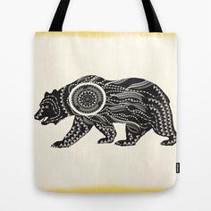 Dream Catcher Bear Tote Bag #society6, #dreamcatcher, #bear, #animal, #ornate, #patterns, #famenxt, #tote