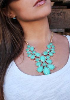 Bright statement necklace.
