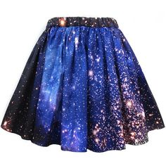 Hubble-print dresses, skirts, and scarves let you wear your space porn... ❤ liked on Polyvore featuring skirts, bottoms, space, patterned skirts, cosmic skirt, print skirt, galaxy skirt and blue print skirt