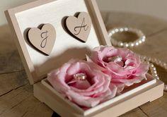 pretty initial wedding ring box ~ we ❤ this! moncheribridals.com
