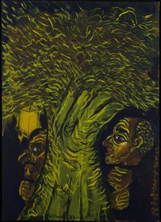 Karaghiozis frightened by his dreams      2011     oil on canvas     70 x 50 cm      Mantzavinos Tassos
