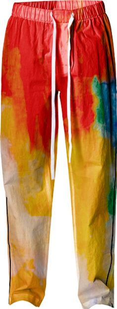 "Pajama Pant - ""Running Colors"" by juliantgardea"