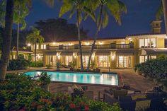 large backyard swimming pool