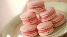 French Macarons sitting on a plate