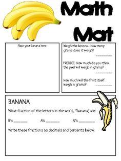 bananas...a healthy math mat!