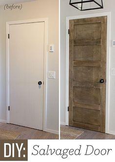 Jenna Sue: Foyer Update: DIY Salvaged Door