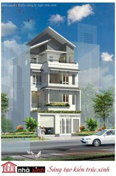 Mẫu Thiết kế Nhà Phố Đẹp - Ngôi Nhà Xinh | Hiện Đại | Mái Nghiêng | 4 Tầng | 9 M Mặt tiền - Quận 4 - Tp.HCM | NPNNX129