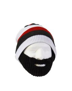 Stubble Cruiser Black Beard with Striped Beanie