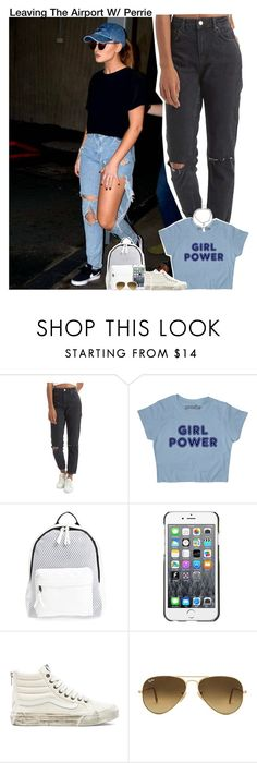 """""""Leaving The Airport W/ Perrie"""" by aileen2704 ❤ liked on Polyvore featuring Topshop, Poverty Flats, County Of Milan, Vans, Ray-Ban, littlemix and perrieedwards"""