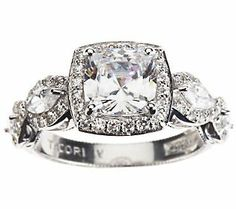 My new engagement ring. <3 To replace the broken one. <3 <3 Tacori IV Epiphany Halo Cushion-Cut Diamonique