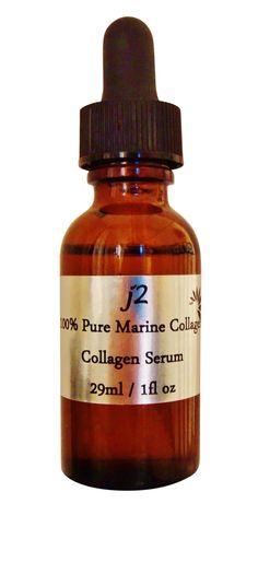 Pure 100% Marine Collagen Serum Deep Sea Anti aging Firmer Skin 1 fl oz.
