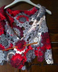 crochet wrap - étole crochet. A fabulous wrap, a Foofaraw would really dress it up!