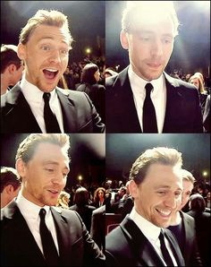 Tom Hiddleston I love his facial expression in the first!