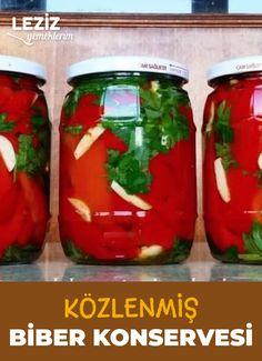Turkish Recipes, Preserves, Pickles, Salsa, Mason Jars, Frozen, Food And Drink, Yummy Food, Homemade