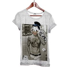 T shirt Donald stay gold homme col rond gris