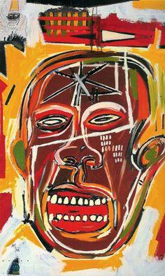 A Jean-Michel Basquiat painting. Basquiat Artist, Jean Basquiat, Jean Michel Basquiat Art, Keith Haring, Ansel Adams, Pop Art Andy Warhol, Graffiti Art, Art Basel, Herbert List