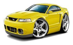 Ford Mustang Cobra SVT vinyl decal wall graphic officially licensed product, custom art e 2004 Ford Mustang, New Mustang, Mustang Cobra, Cobra Art, Car Drawings, Hot Rides, Car Ford, Retro Cars, Vinyl Wall Decals