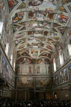 Sistine Chapel - Vatican Museums - visited in 2004.