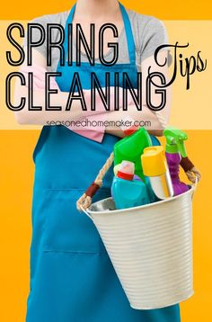Spring Cleaning Tips for your cleaning and organizing you whole house. Occasionally, it's nice to give your house a more thorough cleaning. I have a few tips that will help with organizing and staying on task. Once you've finished cleaning your whole house, you can sit back and enjoy. #seasonedhome