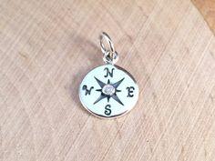 Compass Charm Compass Pendant Silver Charm by MillpondJewelryCo, $16.00