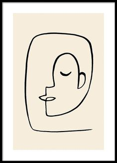 Art And Illustration, Photo Pop Art, Art Abstrait Ligne, Arte Linear, Gold Poster, Personalised Posters, Face Line Drawing, Abstract Face Art, Ballerina Silhouette