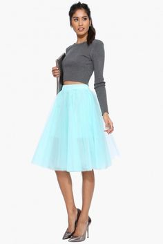 Black Swan Skirt in Mint | Necessary Clothing
