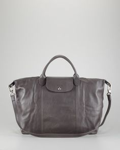 Le Pliage Cuir Large Handbag with Strap,by Longchamp at Neiman Marcus.