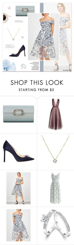 """""""Happy Birthday @awake-withu @belleand @thoughts-of-a-dreamer!"""" by paradiselemonade ❤ liked on Polyvore featuring H&M, Jimmy Choo and Chicwish"""