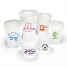 Personalized Shatterproof with Your Artwork Reusable Cups Party Cups, Art Party, Monogram Cups, Glass Coffee Cups, Reusable Coffee Cup, Personalized Plates, Plastic Plates, Mylar Balloons, Guest Towels